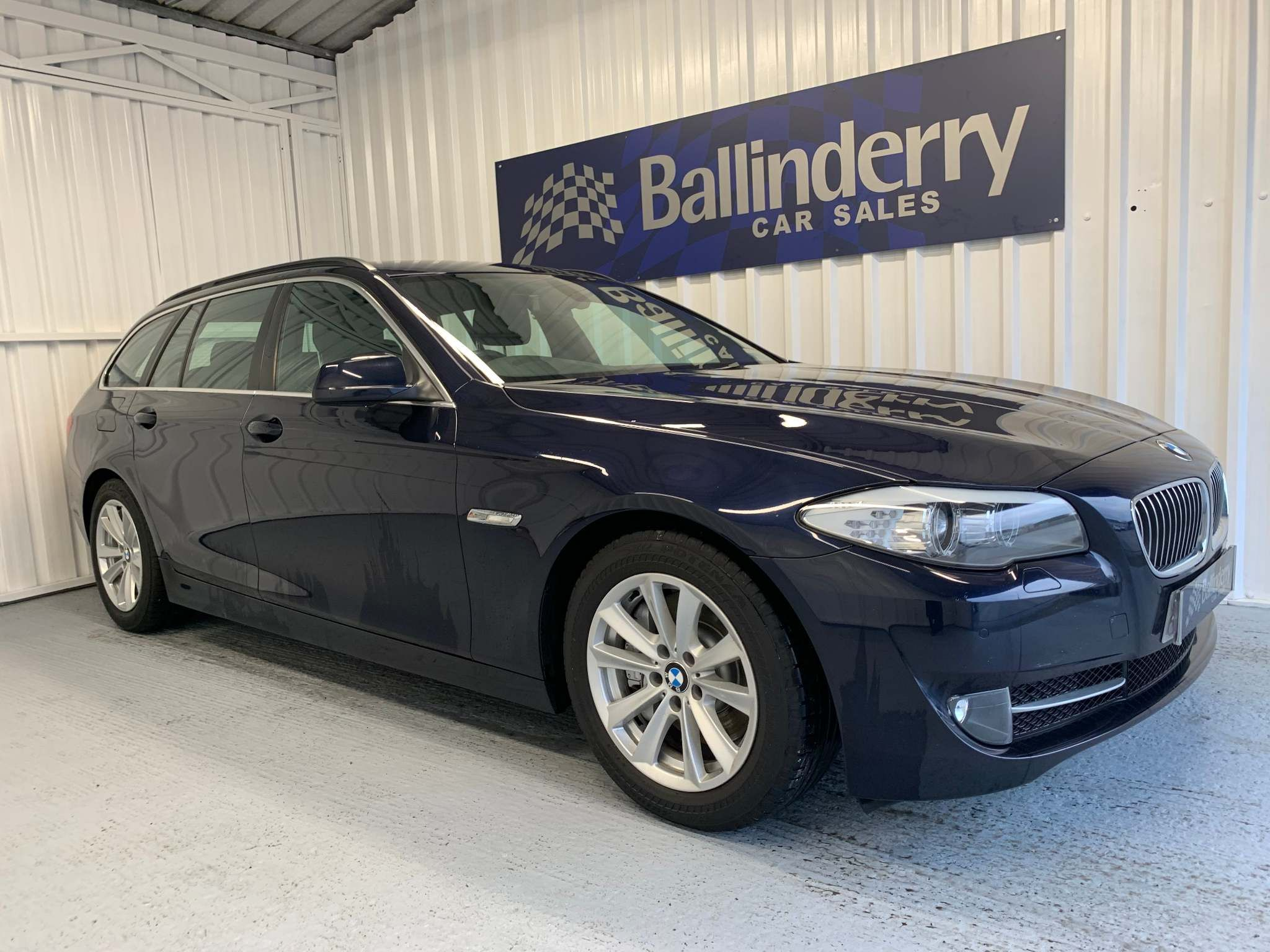 2013 BMW 5 Series 2.0 525d SE Touring Diesel Automatic SAT NAV-BLACK LEATHER-B/TOOTH – Ballinderry Car Sales Moira
