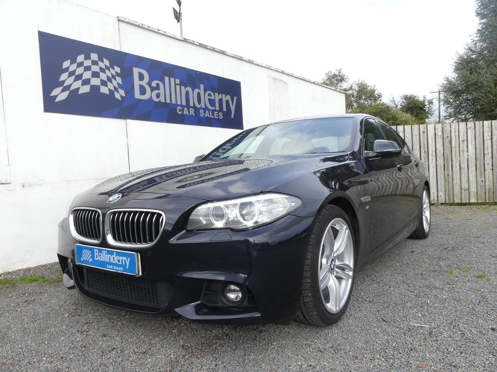 2014 BMW 5 Series 2.0 520d M Sport Diesel Automatic SAT NAV–LEATHER–HEATED SEATS – Ballinderry Car Sales Moira