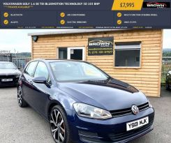 2013 Volkswagen Golf 1.6 SE TDI BLUEMOTION TECHNOLOGY Diesel Manual **** Finance Available**** – Brown Cars Newry