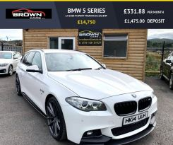 2014 BMW 5 Series 2.0 520D M SPORT TOURING Diesel Automatic **** Finance Available**** – Brown Cars Newry