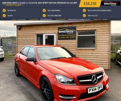 2014 Mercedes-Benz C Class C-CLASS 2.1 C220 CDI AMG SPORT EDITION PREMIUM Diesel Automatic **** Finance Available**** – Brown Cars Newry