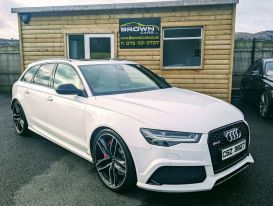 2015 Audi RS6 A6 4.0  AVANT TFSI V8 QUATTRO Petrol Automatic **** Finance Available**** – Brown Cars Newry
