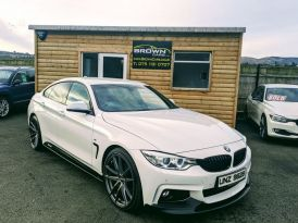 2015 BMW 4 Series M   2.0 420D XDRIVE M SPORT GRAN COUPE Diesel Manual 2015 BMW 420d M-Sport ****FINANCE AVAILABLE**** – Brown Cars Newry