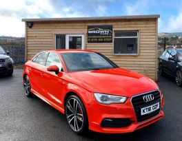 2016 Audi A3 2.0 TDI S LINE NAV Diesel Manual  – Brown Cars Newry