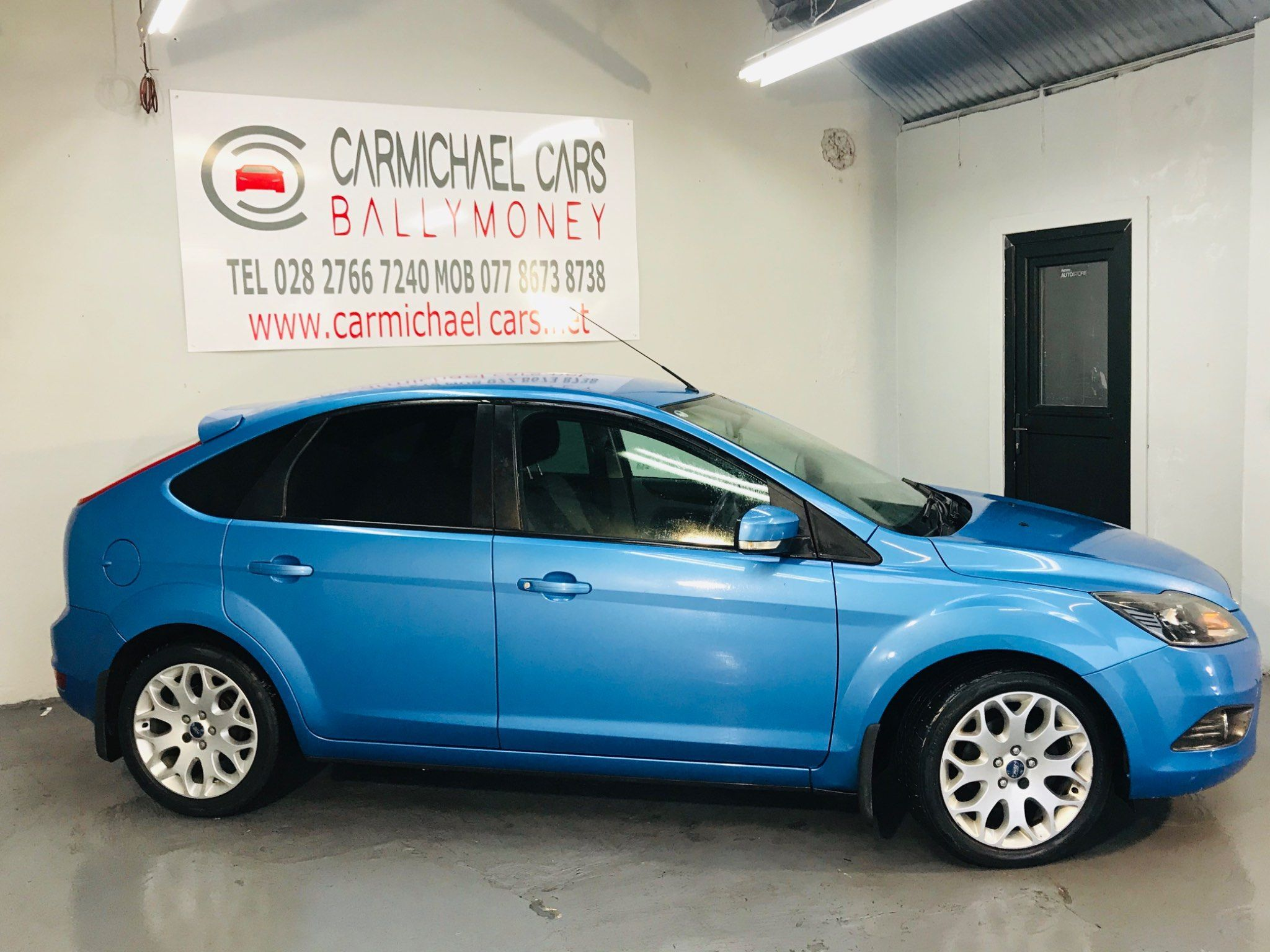 2010 FORD Focus 1.6 Zetec Petrol Manual BLUE, ONLY 53K, – Carmichael Cars Ballymoney full