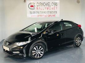 2013 HONDA Civic 1.6 i-DTEC ES Diesel Manual BLACK, 91K, CAMERA, NAV! – Carmichael Cars Ballymoney