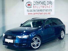 2013 AUDI A4 Avant 2.0 TDI S line Avant Diesel Manual BLUE, 127K, FULL LEATHER – Carmichael Cars Ballymoney