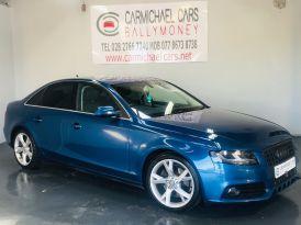 2011 AUDI A4 2.0 TDI Technik Diesel Manual BLUE, 106K, FULL LEATHER – Carmichael Cars Ballymoney
