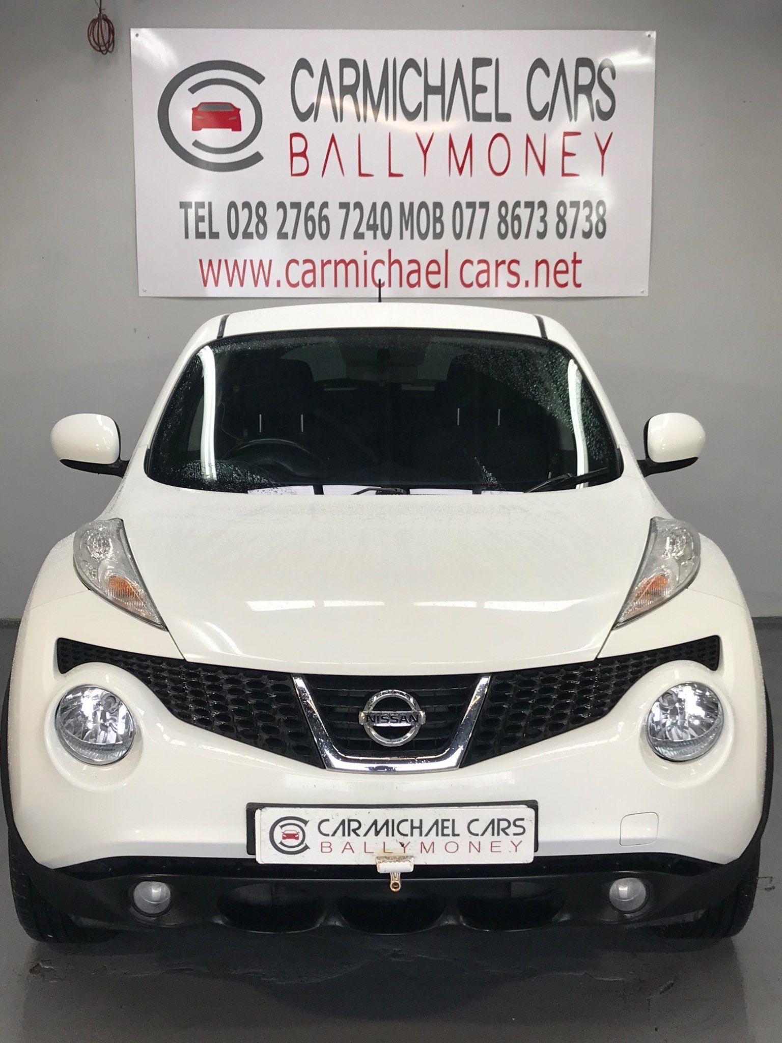 2011 NISSAN Juke 1.6 16v Acenta Petrol Manual WHITE, 90K, – Carmichael Cars Ballymoney full