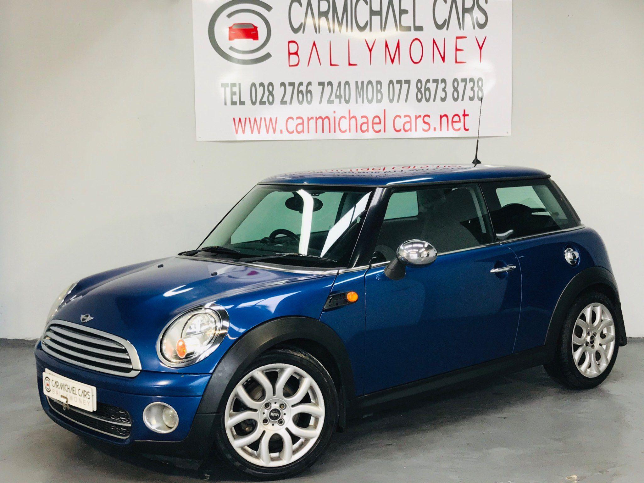 2008 MINI Hatch 1.6 Cooper D Diesel Manual BLUE, 106K, 1/2 LEATHER – Carmichael Cars Ballymoney full