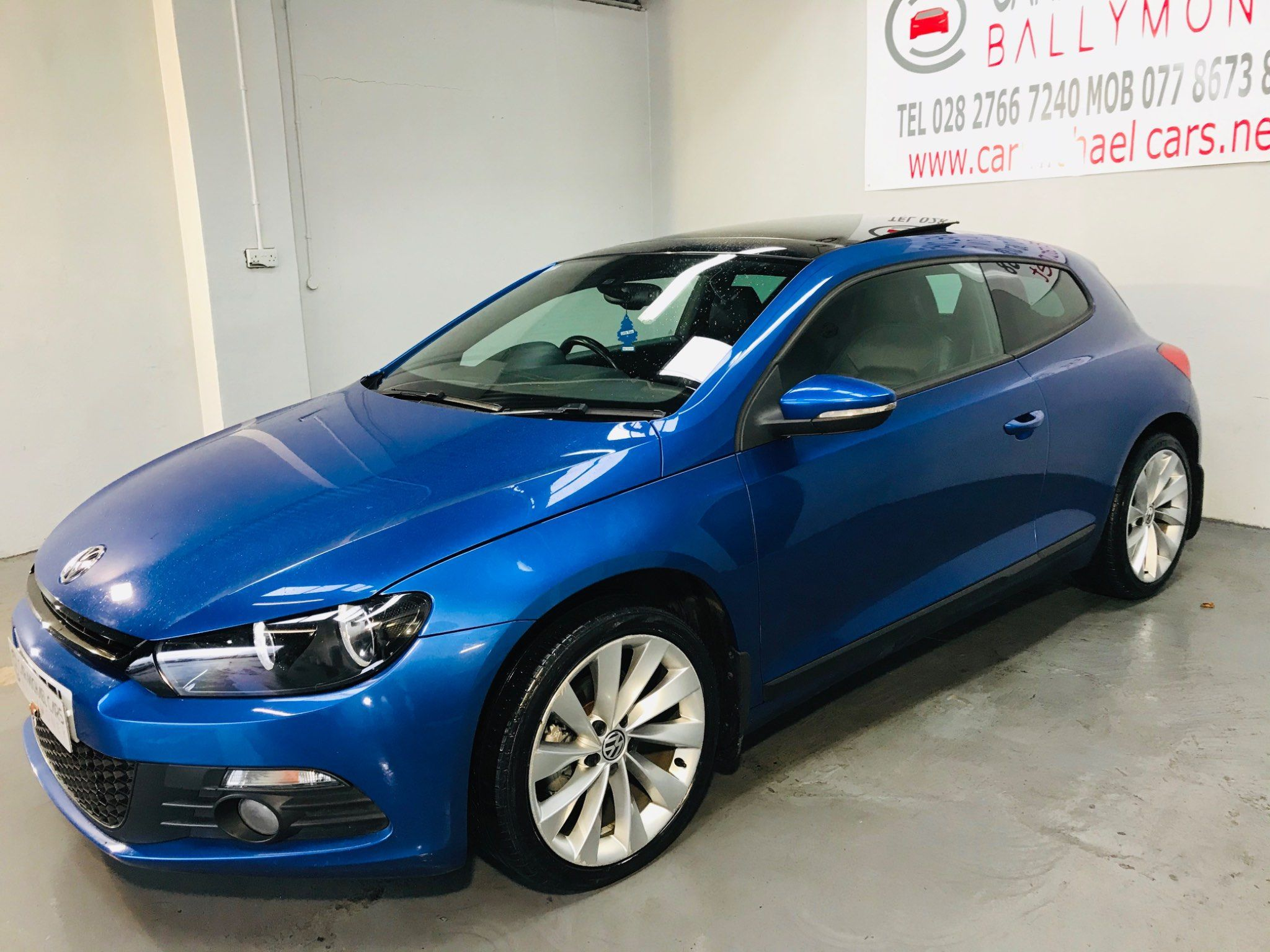 2013 VOLKSWAGEN Scirocco 2.0 TDI BlueMotion Tech GT Diesel Manual BLUE, 94K, LEATHER,PANROOF – Carmichael Cars Ballymoney full
