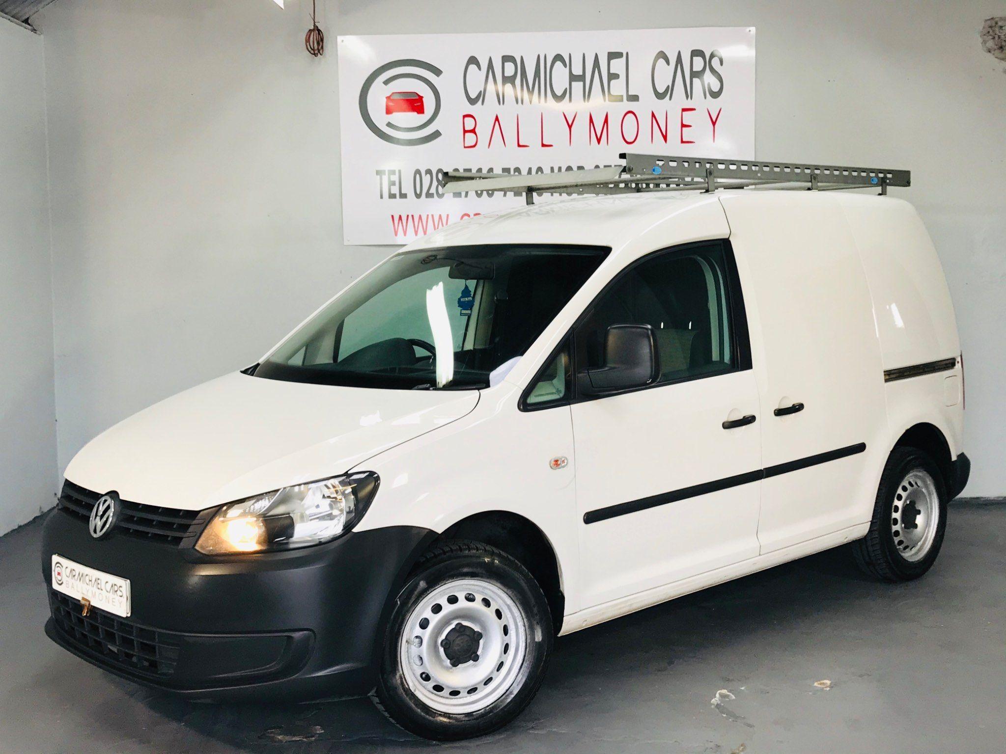 2011 VOLKSWAGEN Caddy 1.6 TDI C20 Panel Van Diesel  WHITE, 136K, – Carmichael Cars Ballymoney full