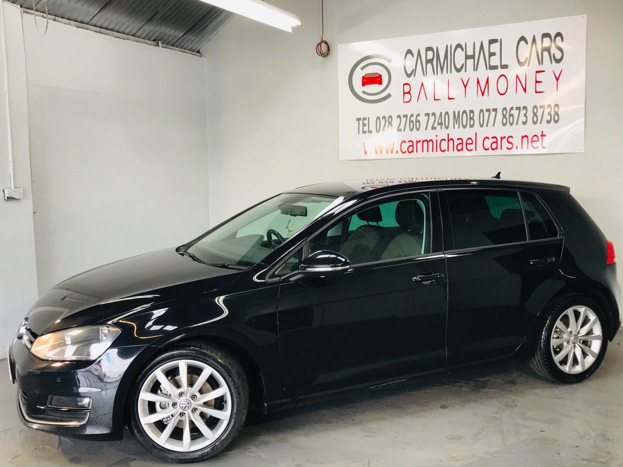 2013 VOLKSWAGEN Golf 2.0 TDI GT (s/s) Diesel Manual BLACK, 98K – Carmichael Cars Ballymoney full