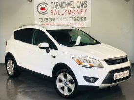 2010 FORD Kuga 2.0 TDCi Zetec Diesel Manual WHITE, `104K, – Carmichael Cars Ballymoney