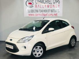 2013 FORD Ka 1.2 Edge (s/s) Petrol Manual WHITE, ONLY 42K – Carmichael Cars Ballymoney