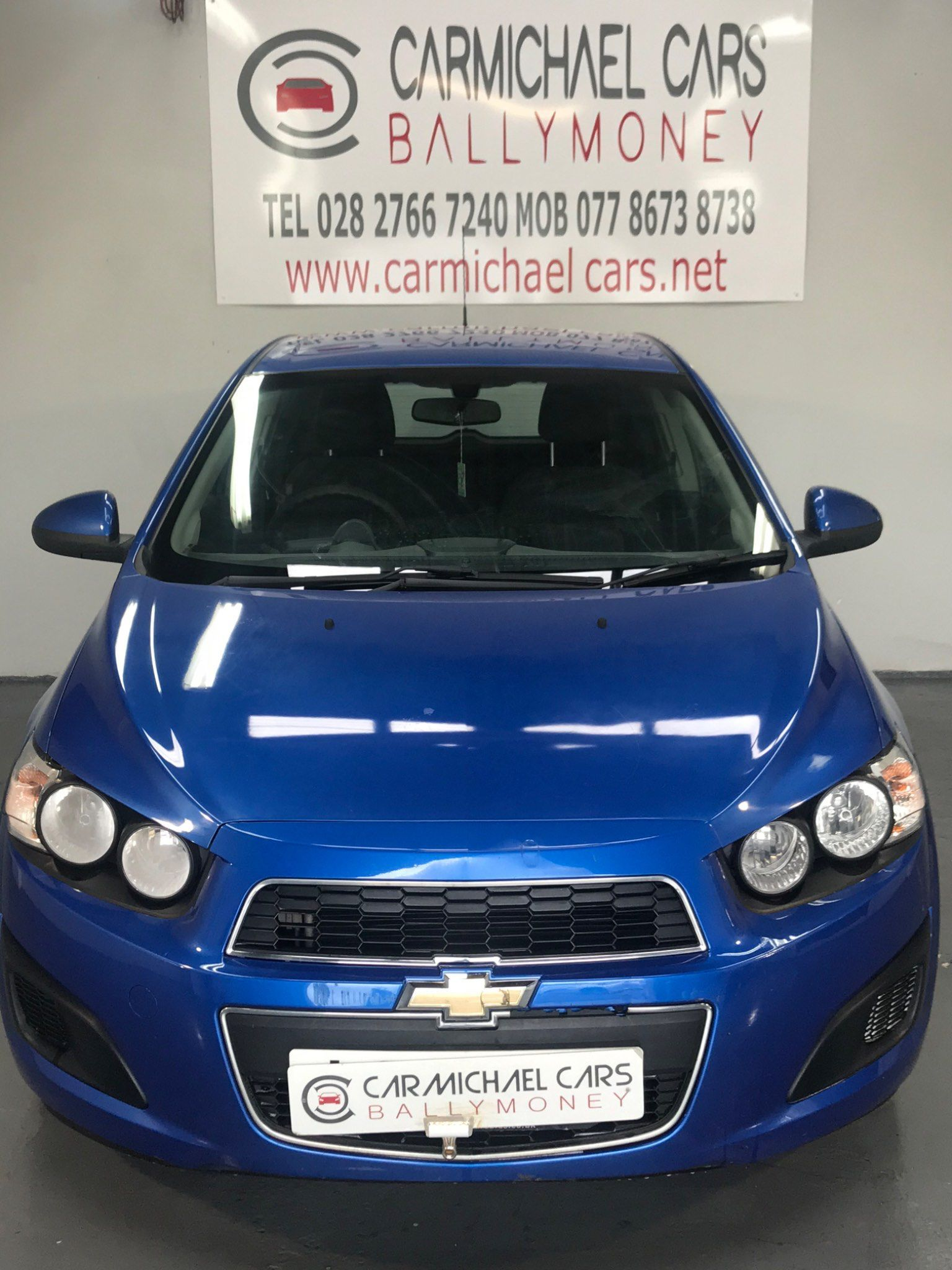 2012 CHEVROLET Aveo 1.2 LS Petrol Manual BLUE, 69K, – Carmichael Cars Ballymoney full