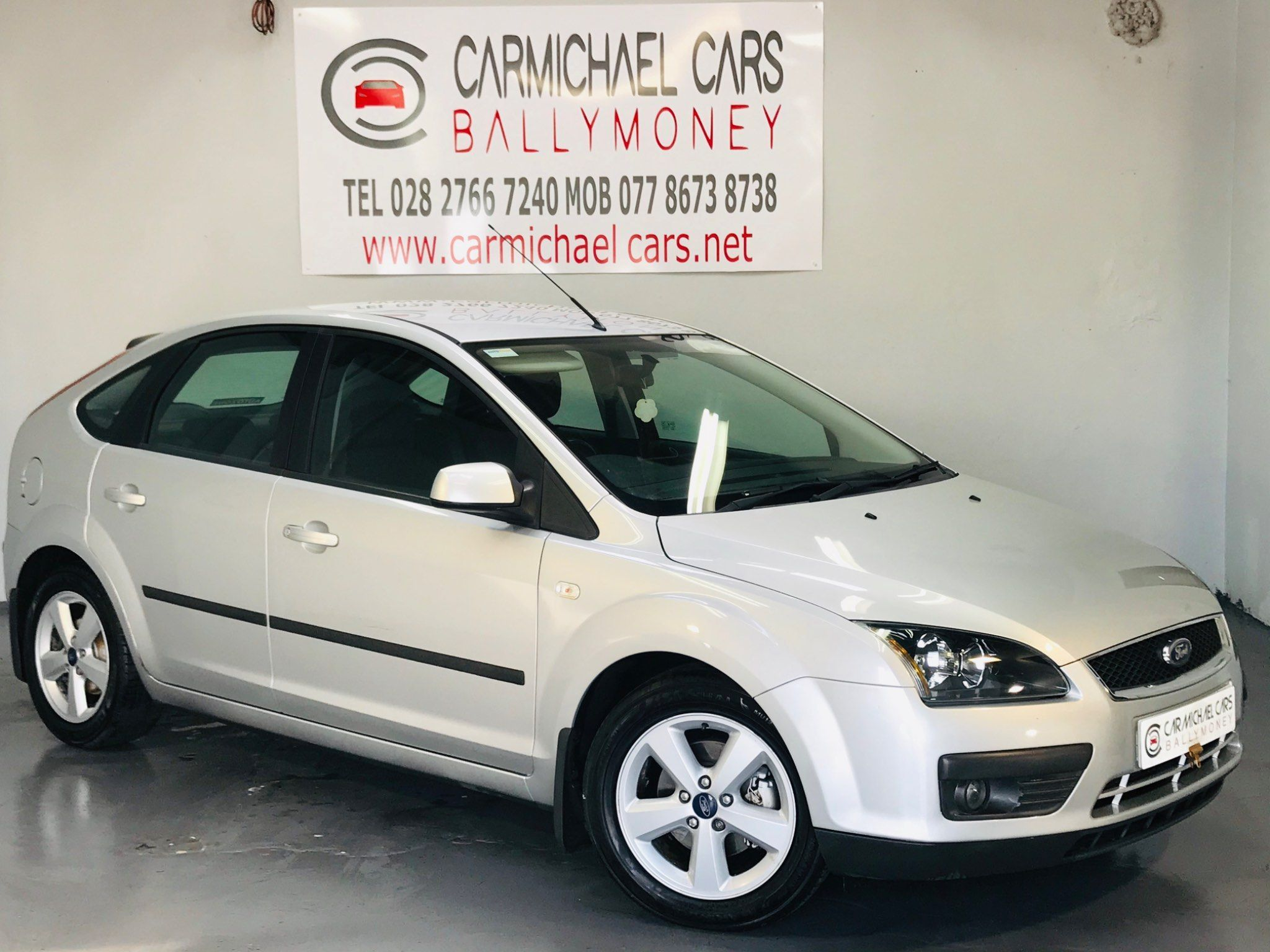 2007 FORD Focus 1.6 Zetec Climate Petrol Manual SILVER, 76K, – Carmichael Cars Ballymoney full