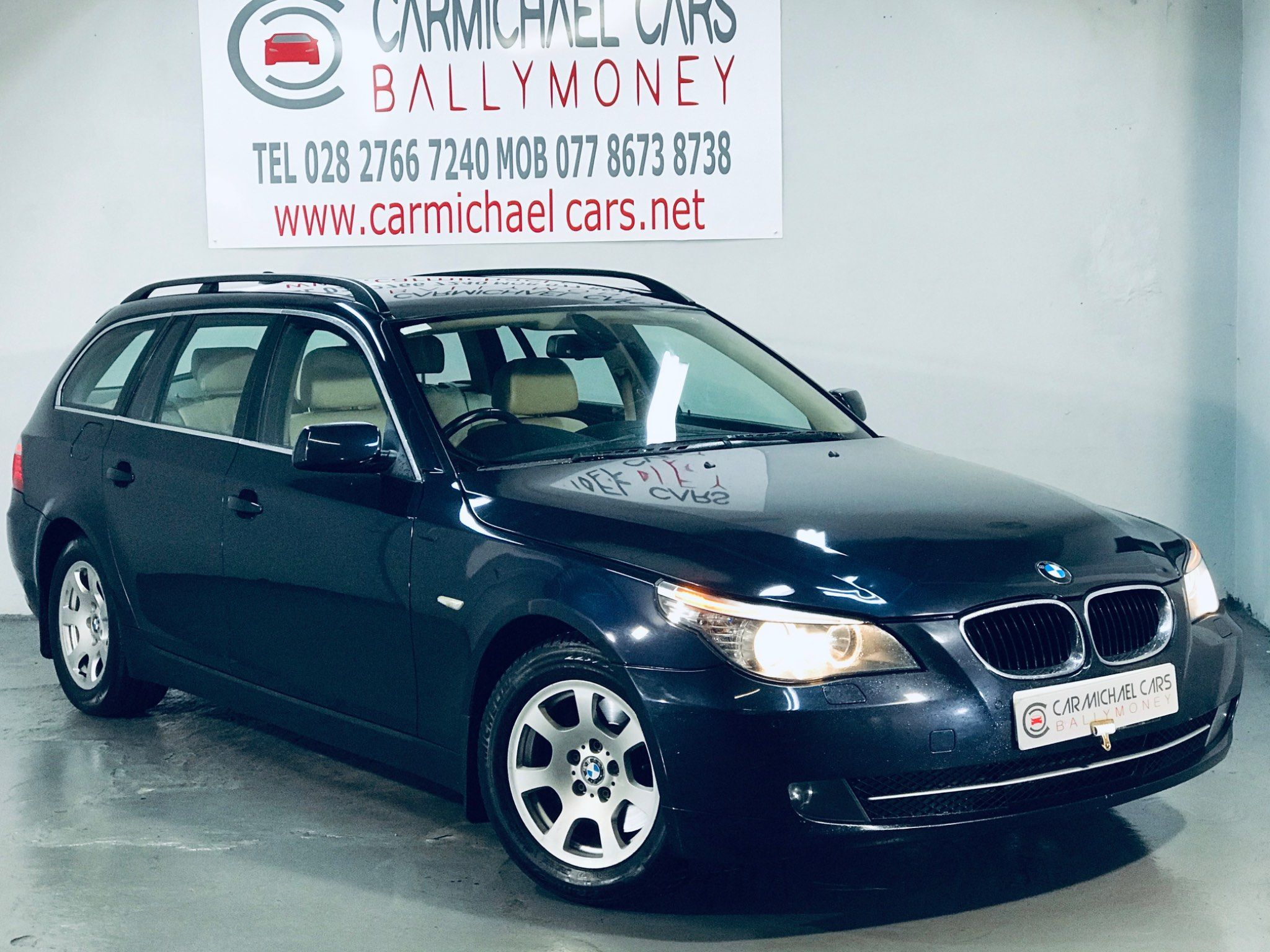 2008 BMW 5 Series 2.0 520d SE Touring Diesel Automatic BLUE, 131K, FULL LEATHER – Carmichael Cars Ballymoney full