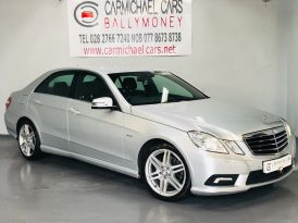 2010 MERCEDES BENZ E Class 2.1 E250 CDI BlueEFFICIENCY Sport Diesel Automatic SILVER, 147K, FULL LEATHER – Carmichael Cars Ballymoney