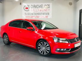 2012 VOLKSWAGEN Passat 2.0 TDI BlueMotion Tech Sport (s/s) Diesel Manual RED, ONLY 71K!! – Carmichael Cars Ballymoney