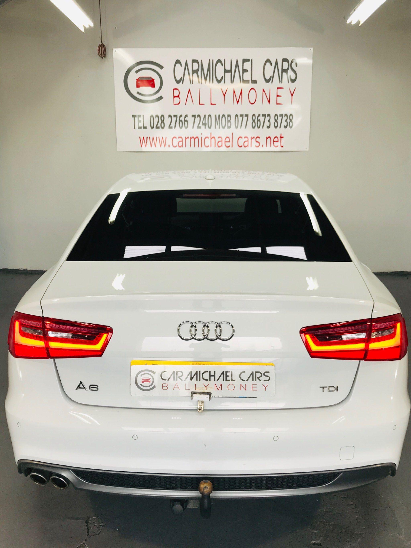 2013 AUDI A6 Saloon 2.0 TDI Black Edition Diesel Manual WHITE, 115K, SAT NAV! – Carmichael Cars Ballymoney full