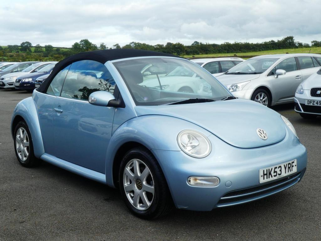 2003 VOLKSWAGEN Beetle 1.6 Cabriolet Petrol Manual motd july 2020 – FC Motors 52 Carntall Rd, Newtownabbey BT36 5SD