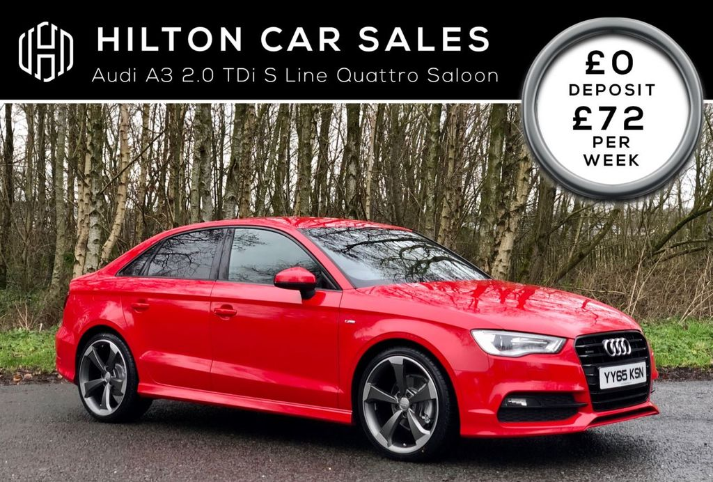 2015 Audi A3 2.0 TDI QUATTRO S LINE NAV Diesel Manual  – Hilton Car Sales Ballymena