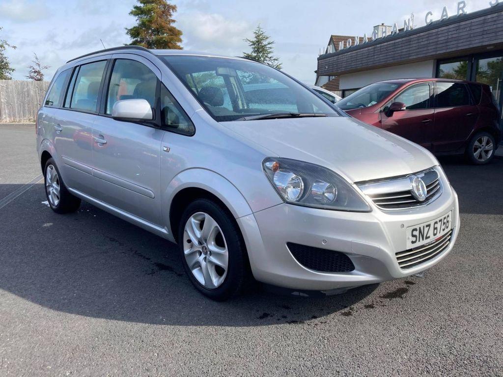 2013 Vauxhall Zafira 1.6 EXCLUSIV Petrol Manual  – Jim Monaghan Car Sales Downpatrick