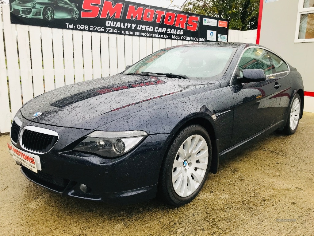 2007 BMW 6 Series 630i  2dr  Auto Petrol Automatic/Other  – SM Motors Ballymoney