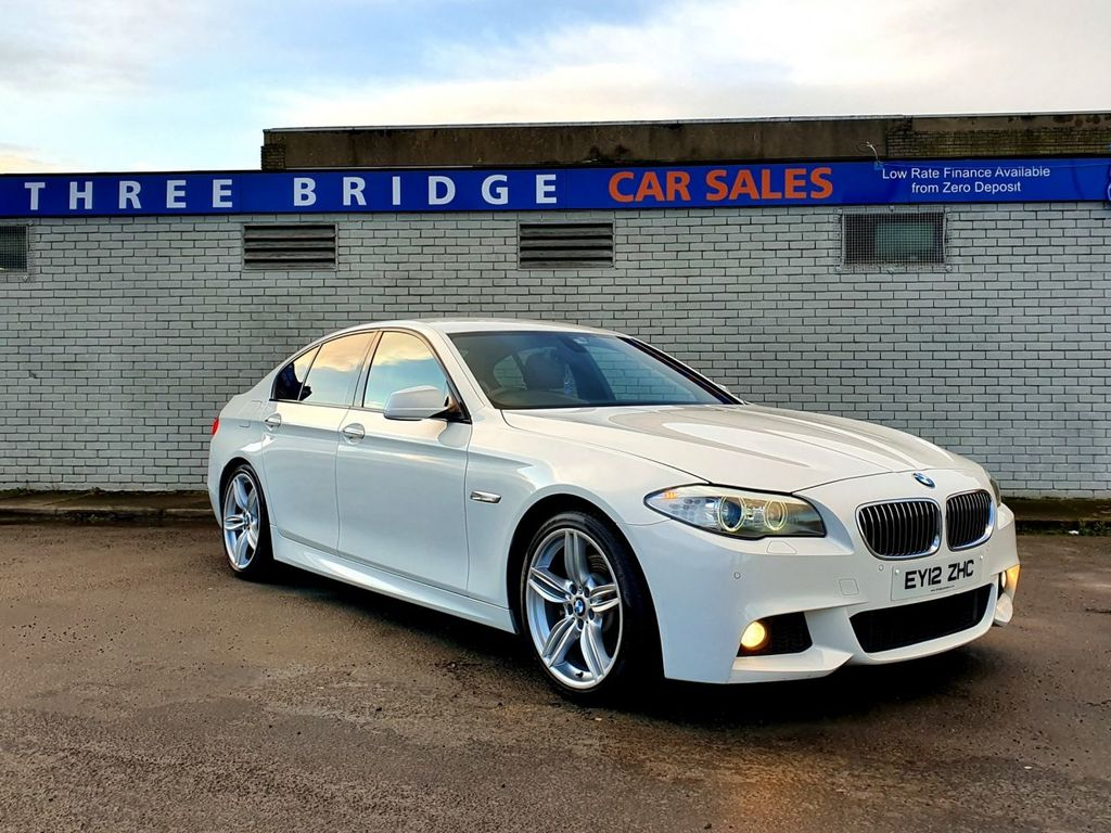 2012 BMW 5 Series 2.0 525D M SPORT Diesel Automatic BEAUTIFUL  525D M SPORT, FLAPPY PADDLE, 19″ ALLOYS, WIDESCREEN SAT NAV – Three Bridge Car Sales Derry