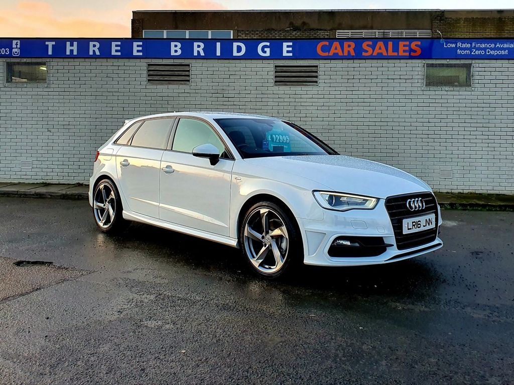 2016 Audi A3 1.6 TDI S LINE NAV Diesel Manual  – Three Bridge Car Sales Derry