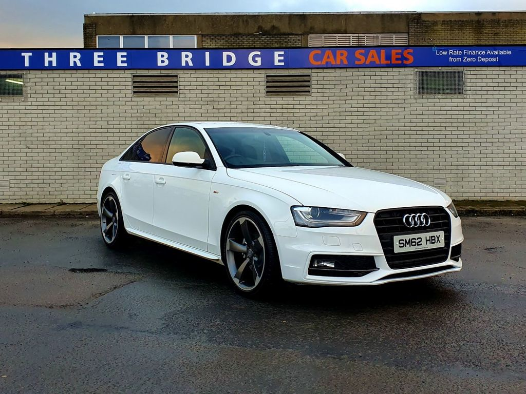 2012 Audi A4 2.0 TDI S LINE Diesel Manual UNMARKED IBIS WHITE A4 S LINE – Three Bridge Car Sales Derry